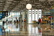 Concourse Prints - Singapore Changi Airport 02 Print by Rick Piper Photography