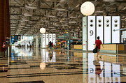 Airport Concourse Prints - Singapore Changi Airport 03 Print by Rick Piper Photography