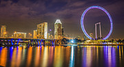 River View Framed Prints - Singapore flyer  Framed Print by Anek Suwannaphoom