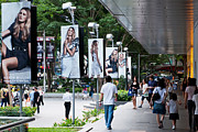 Shopper Prints - Singapore Orchard Road Print by Rick Piper Photography