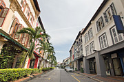 Local Restaurants Prints - Singapore Preserved Historic Peranakan Houses Print by JPLDesigns