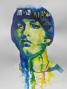 Birthday Cards Painting Originals - Singer EMINEM by Chrisann Ellis