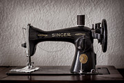 Sewing Machine Framed Prints - Singer Framed Print by Heather Applegate