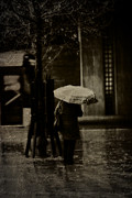 Busstop Prints - Singin in the Rain Print by Erik Brede
