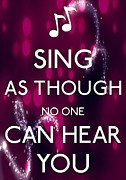 Musicians Photo Posters - Singing Poster by Daryl Macintyre