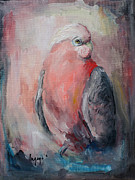 Parrot Art Print Prints - Singing parrot Print by Inga Kaupelyte