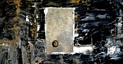 Grid Paintings - Single Doorknob by Chad Rice