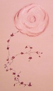 Vine Pastels - Single Rose and Vine by Christine Corretti
