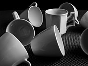 Coffee Drinking Photo Posters - Singled Out - Coffee Cups Poster by Steven Milner