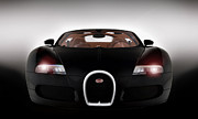 Bugatti  Digital Art Framed Prints - Sinister Bugatti Framed Print by Peter Chilelli