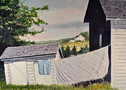 Shed Painting Posters - Sinking Shed Poster by Thomas Stratton