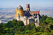 Sintra Pena Palace  Portugal Print by Jaime Alves