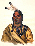 Sioux Framed Prints - Sioux Chief 1883 Framed Print by Unknown