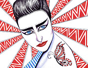 Icon Mixed Media Posters - Siouxsie Sioux Poster by Shawna  Rowe
