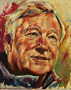 Celebrity Portraits Painting Originals - Sir Alex Ferguson by Tachi Pintor