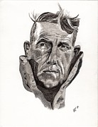 Sir Drawings - Sir Edmund Hillary Portrait by Alisa Towers