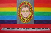 Elton John Painting Metal Prints - Sir Elton John Metal Print by Jeepee Aero