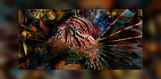 Awesome Digital Art Originals - Sir George Lionfish II by Robin Curtiss