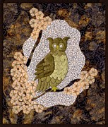 Owl Tapestries - Textiles Metal Prints - Sir Oswald Metal Print by Jean Baardsen