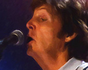 Music Legends Paintings - Sir Paul by Michael Pickett