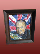 Leaders Painting Originals - Sir Winston Churchill by Anthony Marshall