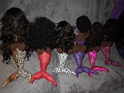 Black Art Doll Sculptures - Siren Mermaid Tails Picture by Cassandra George Sturges