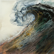 Wave Mixed Media - Siren Song SOLD by Lia Melia