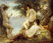 Talking Painting Prints - Sirens Print by Ignace Henri Jean Fantin-Latour