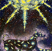 Constellations Painting Metal Prints - Sirius Listening Metal Print by Dennis Goodbee