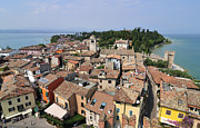 Old Houses Metal Prints - Sirmione Lake Garda Italy Metal Print by Matthias Hauser