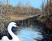 Swans... Paintings - Sister Swans by Graham Keith
