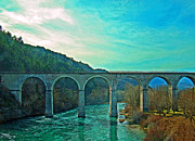 Spans Prints - Sisteron France Bridge Print by Al Bourassa
