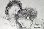 Sisters 2 Print by Gulsen Beasley
