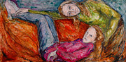 Silk Drawings - Sisters by Christine Ilewski