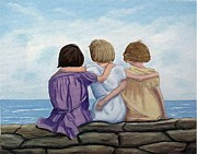 Sisters Paintings - Sisters by Fran Brooks