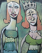 Sisters Paintings - Sisters Going to the Ball by Tim Nyberg