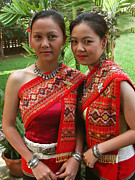Chang Prints - Sisters of Chiang Mai Print by Bill Marder