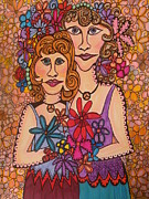 Sisters Of Peace  Print by Gerri Rowan