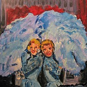 Berlin Painting Originals - Sisters Sisters by Susan Jones