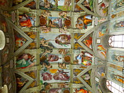 The Creation Of Adam Posters - Sistine Chapel Ceiling  Poster by David Messinger