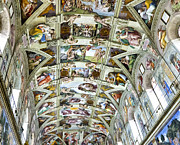Michelangelo Framed Prints - Sistine Chapel Framed Print by Jon Berghoff