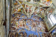 Michelangelo Framed Prints - Sistine Chapel - Last Judgement Framed Print by Jon Berghoff