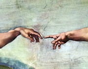 Creation Of Adam Posters - Sistine Chapel Poster by SPL and Photo Researchers
