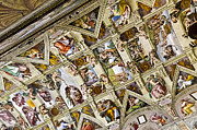 City Map Art - Sistine Chapel- Vatican Museum by Jon Berghoff