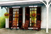 Window Panes Prints - Sit a spell  Print by Janine Riley