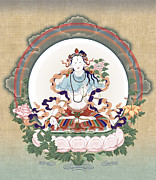 Tibet Mixed Media Prints - Sita Tara Print by Chris  Banigan