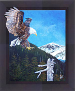Eagle Sculpture Posters - Sitka Poster by Gregory Peters