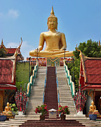 Thai Photos - Sitting Buddha by Adam Romanowicz