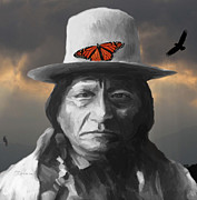 Dakota Mixed Media - Sitting Bull by GCannon