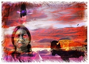 The American Buffalo Prints - Sitting Bull Print by Mal Bray